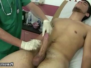This patient has a massive hardon that the doctor jerks off | doctors  handjob  jerking  massive