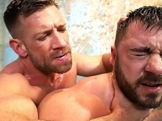 Two hot gay hunks fucking hard in the shower | fucking   gays tube   hardcore   hunks best   shower   two movie