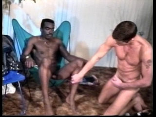 VCA Gay Black Leather White Studs scene | black tv   gays tube   scene   studs   white