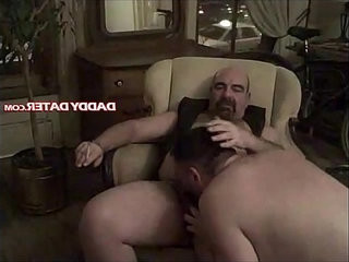 Hairy Daddybear top kicks back and smokes while getting sucked | back film  getting  hairy guy  smoking  sucking