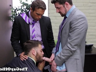 Office with bitch Tommy Defendi | bitch   masturbating   office   threeway