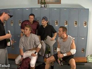 Threesome jocks in locker room | jocks  locker  room  threesome