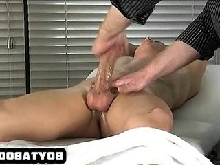 Tied up hunk getting his cock tugged until he cums | cocks  cums  cumshots  getting  hunks best  tight movie