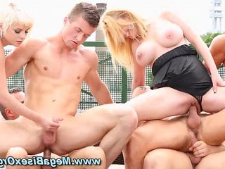Bigtits rooftop orgy blonde slut | blonde   orgy tube   slut male