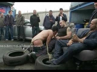 Gay sex slave in rough fetish gang bang | banged  fetish  gangbang  gays tube  orgy tube  slave