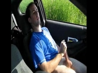 My step mom look at me jerking off in her car and filming at the same time   car xxx  fucking  jerking