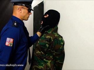 PRISON COP BOXING SLAVE | slave  uniform