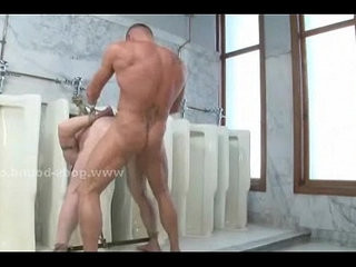 Gay cop catches thief in the rest room | fucking  gays tube  room